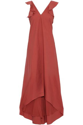 BRUNELLO CUCINELLI Ruffled cotton-blend gown