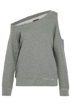 RTA Willow one-shoulder cutout cotton-blend terry sweatshirt