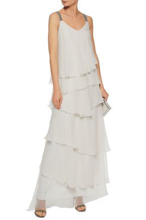 BRUNELLO CUCINELLI Ruffled silk-chiffon gown