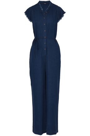 SPLENDID Frayed chambray jumpsuit