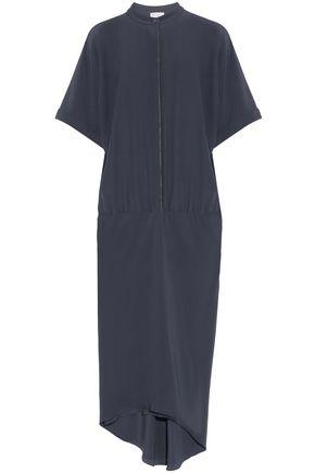 BRUNELLO CUCINELLI Bead-embellished silk crepe de chine dress