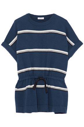 BRUNELLO CUCINELLI Striped cashmere top