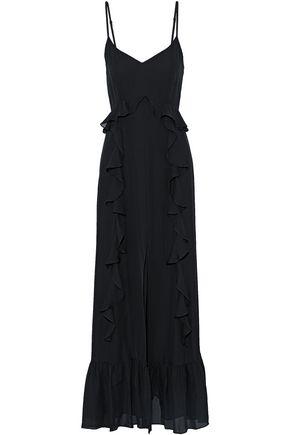 L'AGENCE Ruffled chiffon gown