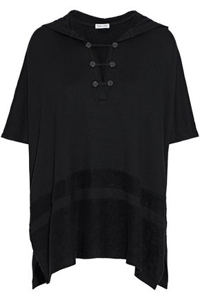 SPLENDID Brushed stretch-modal hooded top