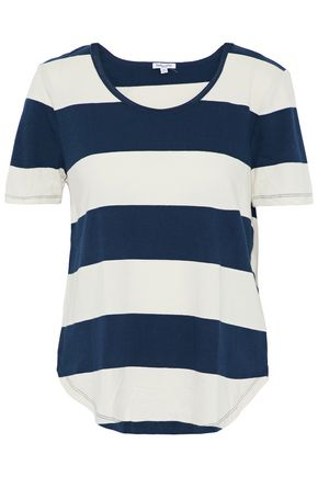 SPLENDID Striped cotton-jersey T-shirt