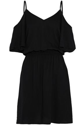 SPLENDID Cold-shoulder washed-crepe dress