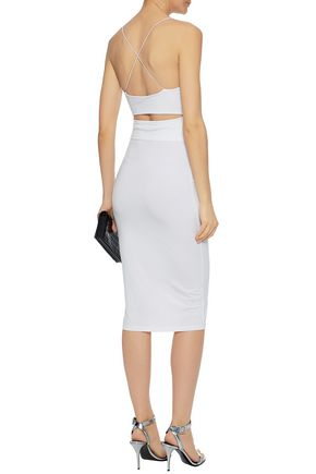 ALEXANDERWANG.T Cutout stretch-modal jersey dress