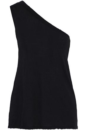 RTA Adele one-shoulder cotton and cashmere-blend jersey top