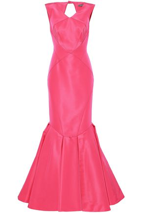 Zac Posen Woman Strapless Paneled Two-tone Duchesse-satin Gown Red Size 12 Zac Posen 86z61gTG6P