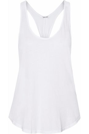SPLENDID Twisted slub Supima cotton-jersey tank
