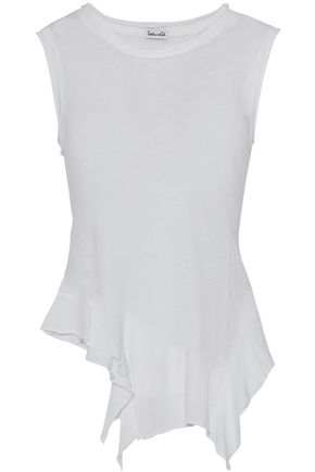 SPLENDID Asymmetric Supima cotton-jersey tank