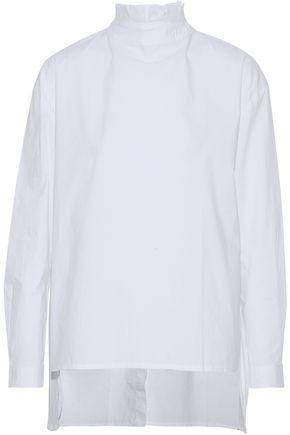 W118 by WALTER BAKER Ruffle-trimmed cotton-poplin top