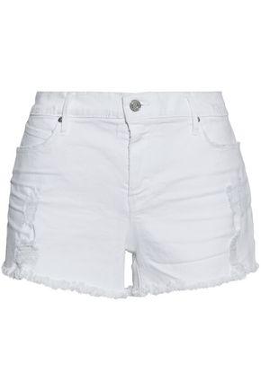 RTA Olivia distressed denim shorts