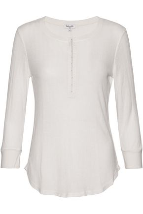 SPLENDID Slub textured-jersey top