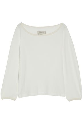 CURRENT/ELLIOTT Waffle-knit cotton top
