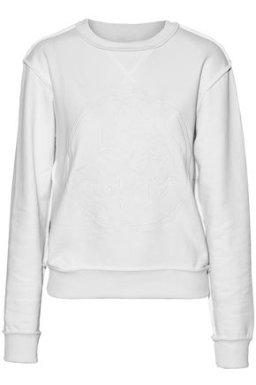 J.W.ANDERSON Embroidered cotton-terry sweatshirt