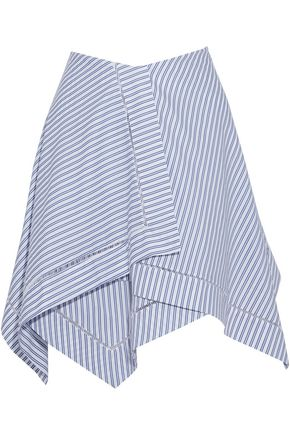 J.W.ANDERSON Asymmetric layered striped cotton mini skirt