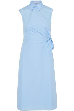 J.W.ANDERSON Wrap-effect cotton-poplin shirt dress