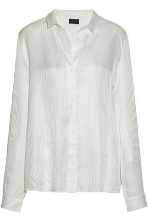 RTA Silk satin-jacquard shirt