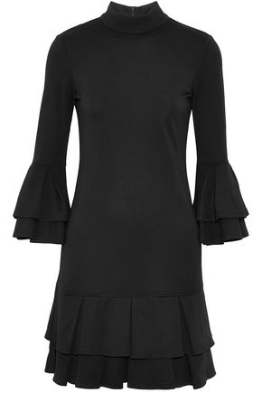 W118 by WALTER BAKER Tiered ruffled stretch-jersey mini dress