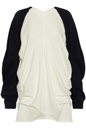 J.W.ANDERSON Ruched two-tone crepe top