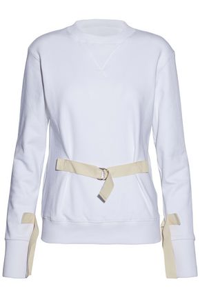 J.W.ANDERSON Buckled cotton-terry sweatshirt