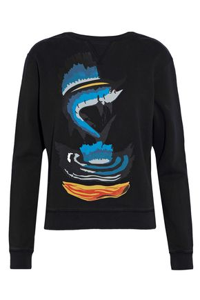 J.W.ANDERSON Printed cotton-terry sweatshirt