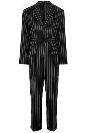 JIL SANDER Pinstriped stretch wool-twill jumpsuit