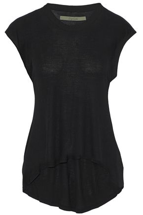 ENZA COSTA Ribbed stretch-jersey top