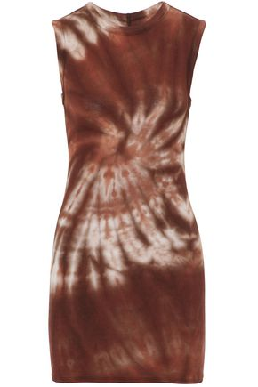 ENZA COSTA Tie-dye ribbed stretch-jersey top