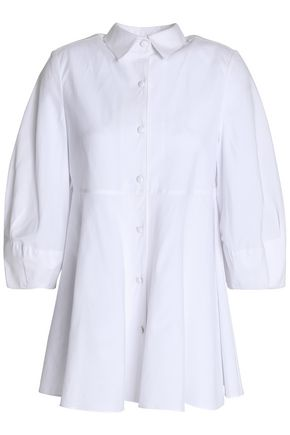 CO Fluted cotton-poplin shirt