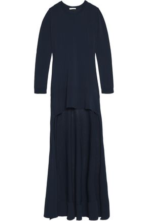 ANTONIO BERARDI Asymmetric belted knitted maxi dress