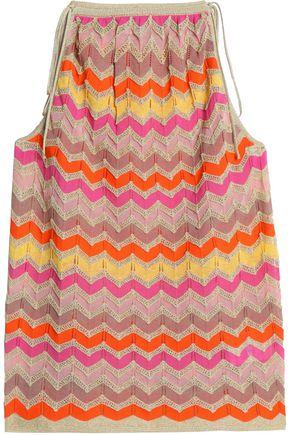 M MISSONI Metallic crochet-knit cotton-blend top