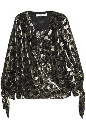 PERSEVERANCE Silk-blend lame blouse