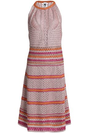 M MISSONI Metallic pointelle-knit dress