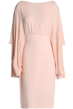 ANTONIO BERARDI Draped ruffled crepe dress