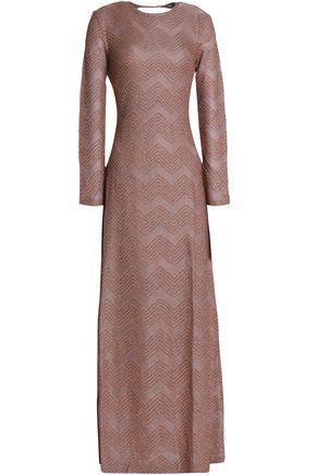 M MISSONI Tie-back metallic crochet-knit maxi dress