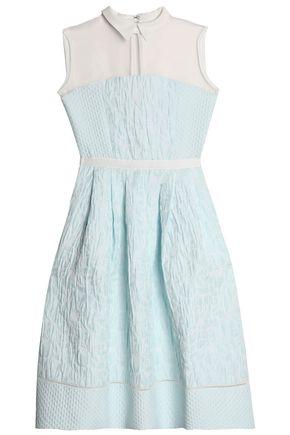 PERSEVERANCE Tulle-paneled floral-jacquard dress