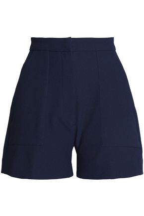 PERSEVERANCE Pleated crepe shorts