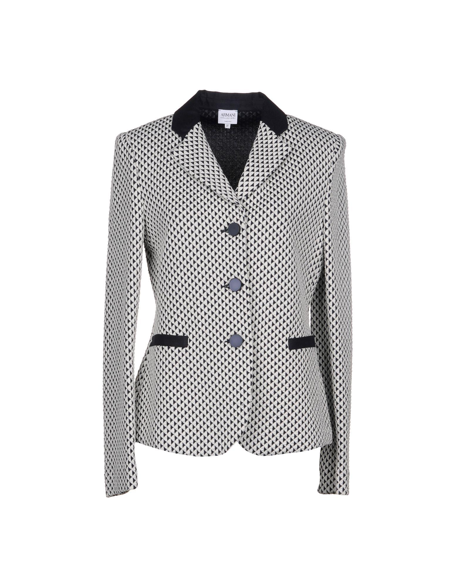 ARMANI COLLEZIONI Damen Jackett Farbe Weiß Größe 7