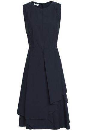 BRUNELLO CUCINELLI Layered ruffled crepe midi dress