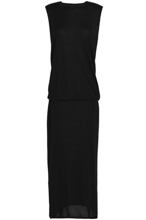 BRUNELLO CUCINELLI Crystal-embellished cashmere and silk-blend maxi dress