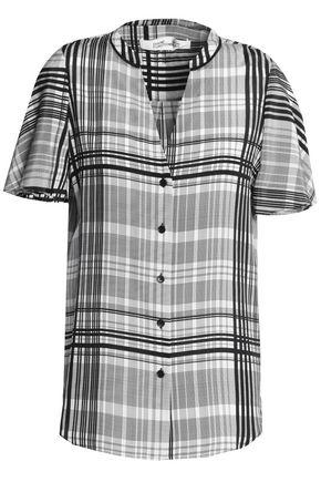 DIANE VON FURSTENBERG Checked silk shirt