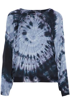 ENZA COSTA Satin tie-dyed top