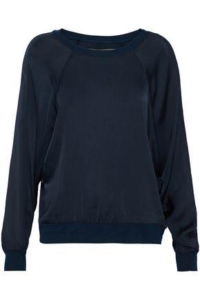 ENZA COSTA Satin sweatshirt