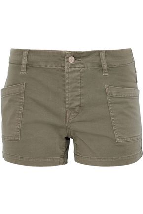 J BRAND Cotton-blend twill shorts