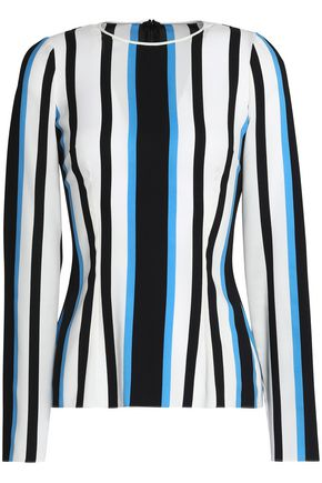 DOLCE & GABBANA Striped stretch-silk top
