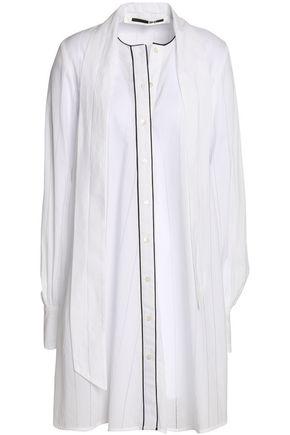McQ Alexander McQueen Draped cotton-mousseline shirt dress