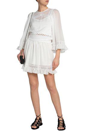 Best Deals Amazon For Sale Mcq Alexander Mcqueen Woman Flared Striped Satin-cady Mini Dress Black Size 42 Alexander McQueen Cheap Discount Sale ajUBFX