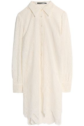 McQ Alexander McQueen Scalloped Chantilly lace shirt